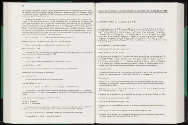 Raadsverslagen van de gemeente Leeuwarden, 1865-2007 (Notulen) 1980-06-23