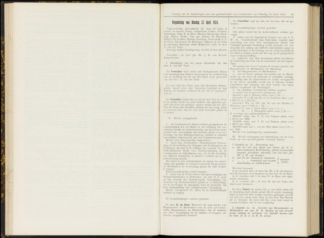 Raadsverslagen van de gemeente Leeuwarden, 1865-2007 (Notulen) 1924-04-22
