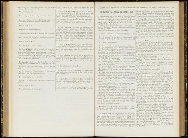 Raadsverslagen van de gemeente Leeuwarden, 1865-2007 (Notulen) 1909-10-12