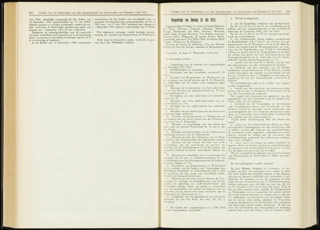 Raadsverslagen van de gemeente Leeuwarden, 1865-2007 (Notulen) 1932-07-26