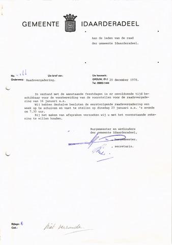 raadsverslagen Idaarderadeel 1935-1983 1979