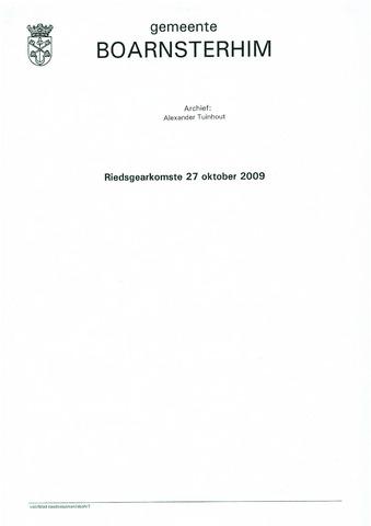 Boarnsterhim vergaderstukken gemeenteraad  2009-10-27