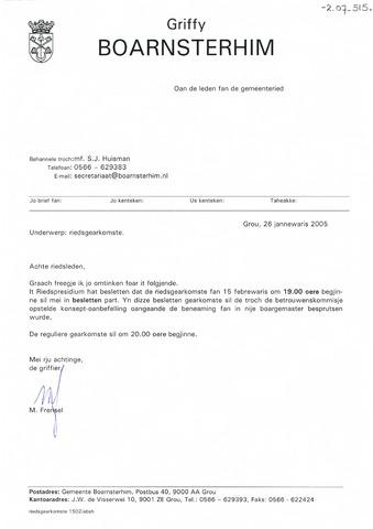 Boarnsterhim vergaderstukken gemeenteraad  2005-02-15