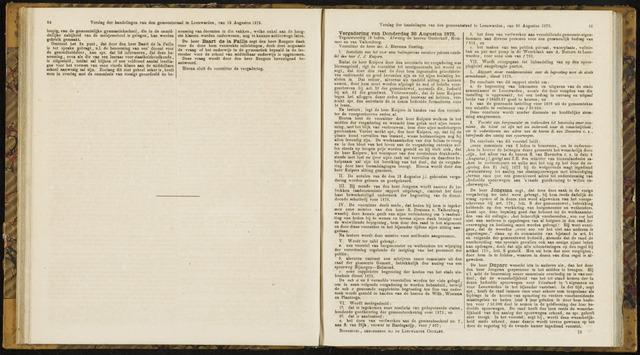Raadsverslagen van de gemeente Leeuwarden, 1865-2007 (Notulen) 1875-08-26