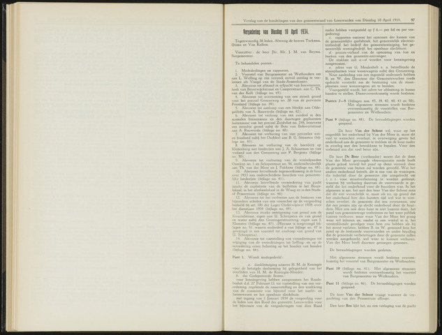 Raadsverslagen van de gemeente Leeuwarden, 1865-2007 (Notulen) 1934-04-10