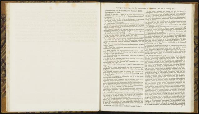 Raadsverslagen van de gemeente Leeuwarden, 1865-2007 (Notulen) 1878-01-31