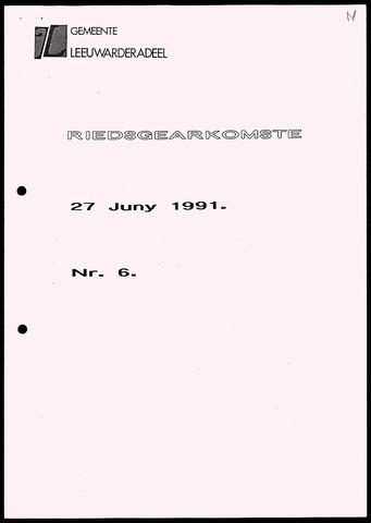 Notulen van de gemeenteraad van Leeuwarderadeel 1991-06-27