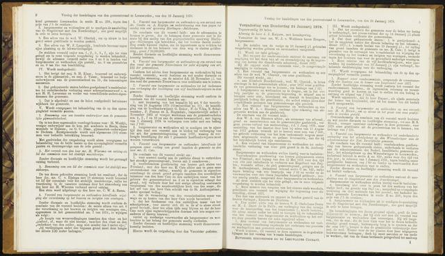Raadsverslagen van de gemeente Leeuwarden, 1865-2007 (Notulen) 1878-01-24