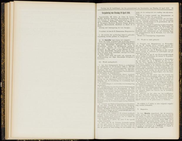 Raadsverslagen van de gemeente Leeuwarden, 1865-2007 (Notulen) 1910-04-19