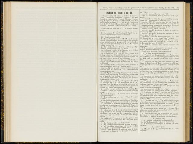 Raadsverslagen van de gemeente Leeuwarden, 1865-2007 (Notulen) 1915-05-11