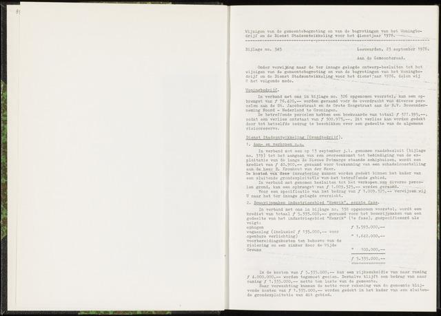 Raadsverslagen van de gemeente Leeuwarden, 1865-2007 (Bijlagen) 1976-01-01