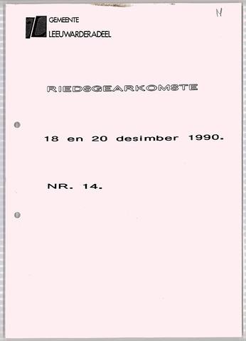 Notulen van de gemeenteraad van Leeuwarderadeel 1990-12-18