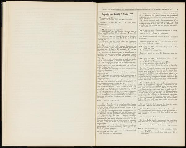 Raadsverslagen van de gemeente Leeuwarden, 1865-2007 (Notulen) 1937-02-03