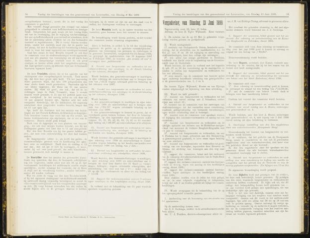 Raadsverslagen van de gemeente Leeuwarden, 1865-2007 (Notulen) 1899-06-13