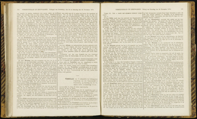 Raadsverslagen van de gemeente Leeuwarden, 1865-2007 (Notulen) 1870-11-26