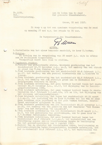 raadsverslagen Idaarderadeel 1935-1983 1957-05-27
