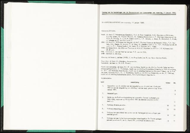 Raadsverslagen van de gemeente Leeuwarden, 1865-2007 (Notulen) 1982
