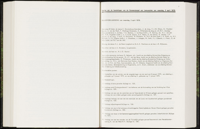 Raadsverslagen van de gemeente Leeuwarden, 1865-2007 (Notulen) 1979-04-02