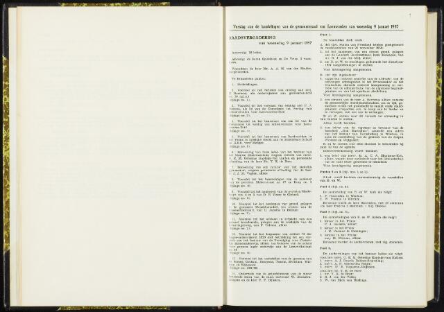 Raadsverslagen van de gemeente Leeuwarden, 1865-2007 (Notulen) 1957