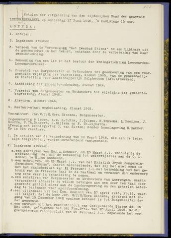 Notulen van de gemeenteraad van Leeuwarderadeel 1946-06-13
