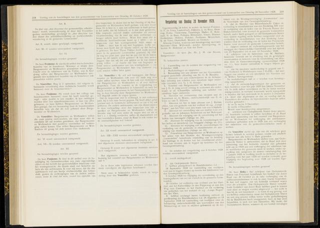Raadsverslagen van de gemeente Leeuwarden, 1865-2007 (Notulen) 1928-11-20