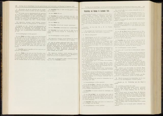 Raadsverslagen van de gemeente Leeuwarden, 1865-2007 (Notulen) 1926-09-14