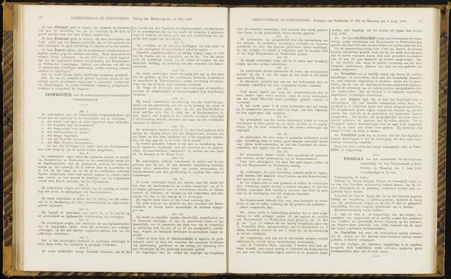 Raadsverslagen van de gemeente Leeuwarden, 1865-2007 (Notulen) 1869-06-07