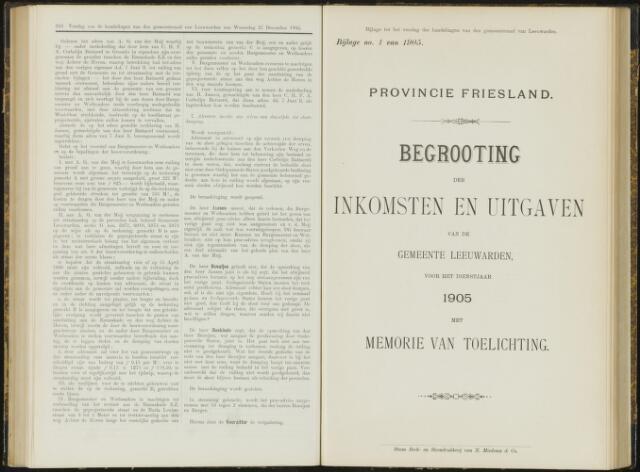 Raadsverslagen van de gemeente Leeuwarden, 1865-2007 (Bijlagen) 1905