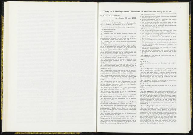 Raadsverslagen van de gemeente Leeuwarden, 1865-2007 (Notulen) 1967-05-16