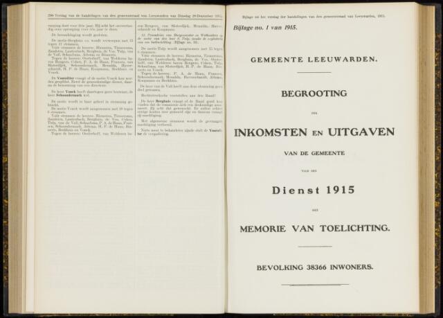 Raadsverslagen van de gemeente Leeuwarden, 1865-2007 (Bijlagen) 1915