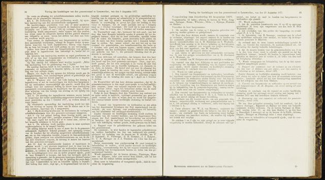 Raadsverslagen van de gemeente Leeuwarden, 1865-2007 (Notulen) 1877-08-23