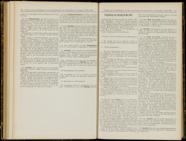 Raadsverslagen van de gemeente Leeuwarden, 1865-2007 (Notulen) 1908-05-26