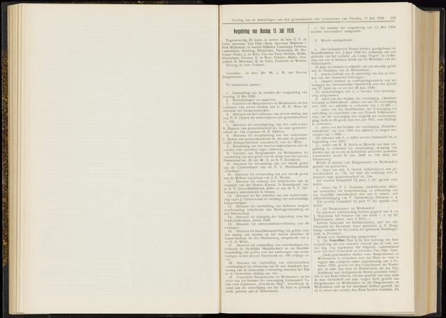 Raadsverslagen van de gemeente Leeuwarden, 1865-2007 (Notulen) 1930-07-15