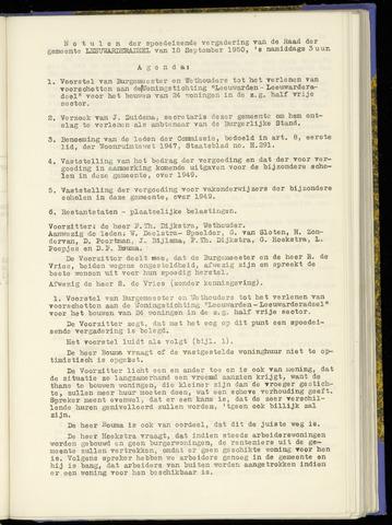 Notulen van de gemeenteraad van Leeuwarderadeel 1950-09-18