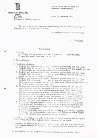 raadsverslagen Idaarderadeel 1935-1983 1971-12-14