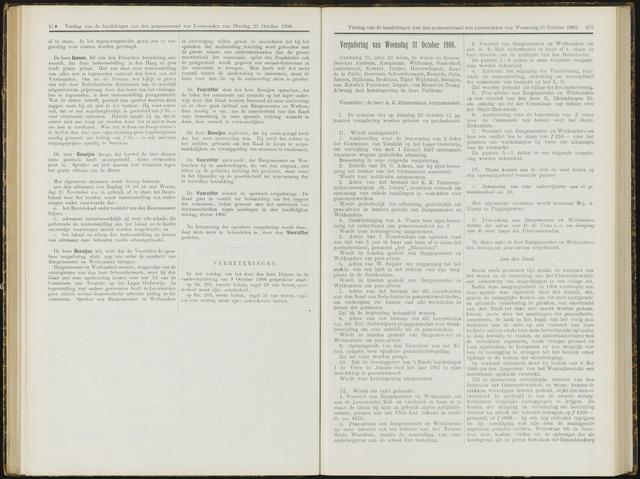 Raadsverslagen van de gemeente Leeuwarden, 1865-2007 (Notulen) 1906-10-31