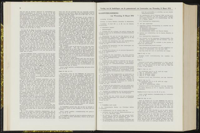 Raadsverslagen van de gemeente Leeuwarden, 1865-2007 (Notulen) 1954-03-31