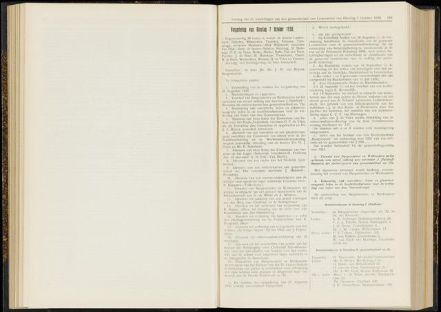 Raadsverslagen van de gemeente Leeuwarden, 1865-2007 (Notulen) 1930-10-07