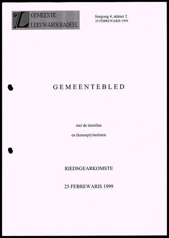 Notulen van de gemeenteraad van Leeuwarderadeel 1999-02-25