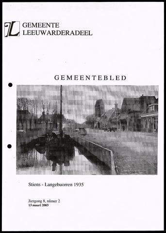 Notulen van de gemeenteraad van Leeuwarderadeel 2003-03-13