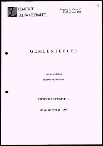 Notulen van de gemeenteraad van Leeuwarderadeel 1997-11-24