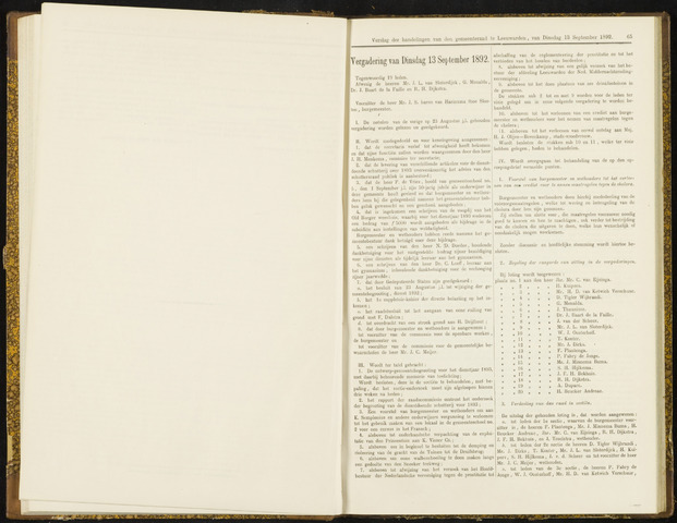 Raadsverslagen van de gemeente Leeuwarden, 1865-2007 (Notulen) 1892-09-13