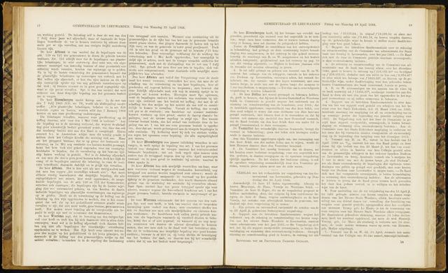 Raadsverslagen van de gemeente Leeuwarden, 1865-2007 (Notulen) 1866-04-26