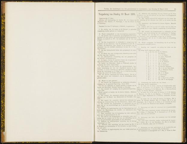 Raadsverslagen van de gemeente Leeuwarden, 1865-2007 (Notulen) 1891-03-10