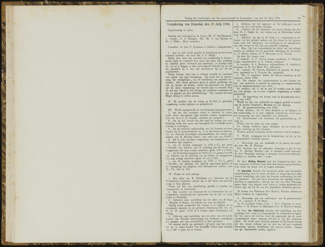 Raadsverslagen van de gemeente Leeuwarden, 1865-2007 (Notulen) 1886-07-27