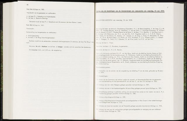 Raadsverslagen van de gemeente Leeuwarden, 1865-2007 (Notulen) 1979-05-14