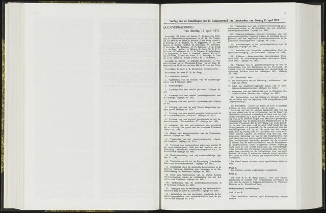 Raadsverslagen van de gemeente Leeuwarden, 1865-2007 (Notulen) 1971-04-13