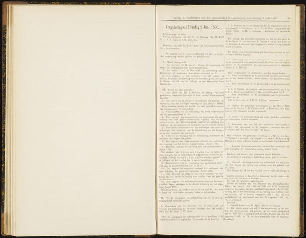 Raadsverslagen van de gemeente Leeuwarden, 1865-2007 (Notulen) 1896-06-09