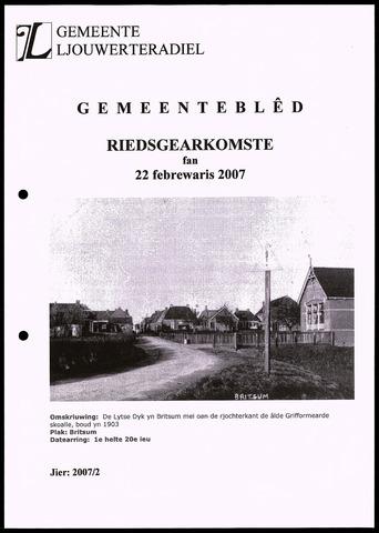 Notulen van de gemeenteraad van Leeuwarderadeel 2007-02-22