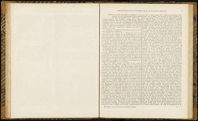 Raadsverslagen van de gemeente Leeuwarden, 1865-2007 (Notulen) 1866-04-18
